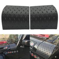 autoadhesivos laterales al por mayor-2 UNIDS Negro Car Sticker Side Side capucha para Jeep Wrangler JK 2007-2015 ABS Body Armor Car Accessories styling venta caliente