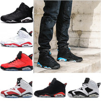 Wholesale Cats Shoes Woman - 2018 Men Retro 6 6s Basketball Shoes UNC 3M Black cat Infrared 23 Carmine Maroon Oreo High quality women sports Sneakers eur 36-47