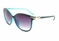 gafas de sol espejadas mujeres al por mayor-Diseñador Gafas de sol Marca Gafas Pantallas para exteriores PC Farme Fashion Classic Ladies lujosos espejos Sunglass para mujeres