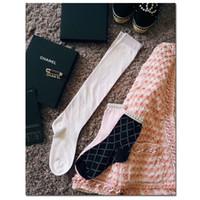 Wholesale pearl socks - Designer sports socks for Women Girl 2018 New Luxury Brand Diamond pearl socks Stockings Streetwear Best quality