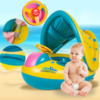 Wholesale swimming pool toys boats for sale - Group buy Kids Water Toys Summer Swimming Ring Yacht Inflatable Baby Swim Pool Toy Portable Float Water Seat Boat Funny Water Sport