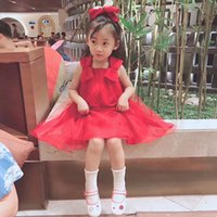 Ball Gowns for sale - Girls Dress 2017 Brand Princess Dress Sleeveless Appliques Floral Design for Girls Clothes Party Dress 3-7Y Clothes