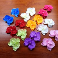 Wholesale orchid sales - DIY Artificial Moth Orchid Flowers Multi Colors Simulation Silk Flower For Children Hair Accessories Wedding Decorations Sale 0 4zb B