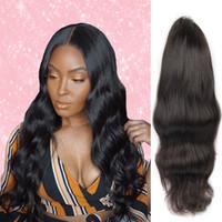 bakire saç şirketleri toptan satış-Moda Laflare Saç Şirketi Dantel Ön İnsan Saç Peruk Malezya Satılık Vücut Dalga Virgin İnsan Saç
