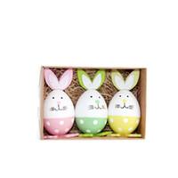 w краска оптовых-Пасхальное яйцо пасхальные яйца 3 шт. В одном наборе окрашенные пластиковые яйца обучающие и развивающие игрушки подарок для детей 8 8yh W