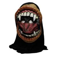 qualität halloween dekorationen großhandel-2018 heiße neue Ankunft hohe Qualität Halloween Party große Mund Grimasse Monster Silikon Horror Maske Party Dekorationen