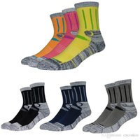 Wholesale cycling crew socks resale online - Free DHL Men s and Women s Running Compression Socks Crew Socks for Outdoor Performance Athletic Sports Climbing Skiing Basketball G498S