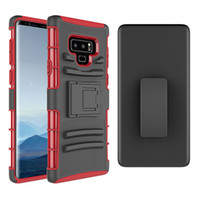 Wholesale galaxy note clip - For Samsung Note 9 Case 3in1 Heavy Duty Hard Rugged Rubber Back Cover with Clip for Samsung Galaxy note 9 S9 S9plus S8 S8plus
