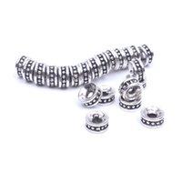 тибетский бисера ожерелье оптовых-50 шт. / лот 6 мм 8 мм Тибетский серебряный spacer бусины поставки для ожерелье браслет делая металлические находки Оптовая продажа ювелирных аксессуаров