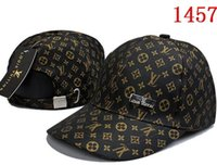 Wholesale animal embroidery designs for sale - baseball cap Cotton Luxury Design caps Embroidery hats for men panel Black snapback hat golf sport casual visor gorras bone casquette