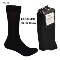 7166579df8f7 Fcare 10pcs =5 Pairs 43 ,44 ,45 ,46 Eu Plus Size Long Leg Business Socks  Crew Socks Men Cotton Dress Business Black Socks