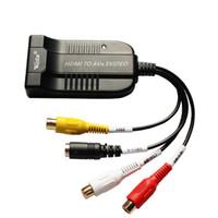 ingrosso s adattatore video convertitore hdmi-Adattatore video 1080p HDMI A AV / S S-Video, convertitore video HDBS hdmi2av + s, hdmi a avsvido rca