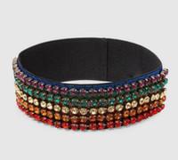 Wholesale music hair - Color diamond hair band gold thread headband fashion luxury women crystal headdress