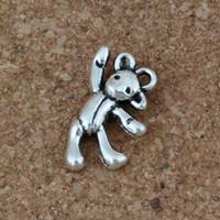 pendentif ours antique achat en gros de-Ours Charmes Pendentifs 100 Pcs / lot 10.5 x 19.5mm Antique Argent De Mode Bijoux DIY Fit Bracelets Collier Boucles D'oreilles
