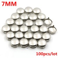 spikes rivets wholesale Australia - 7MM Round Garment Rivets Punk Metal Pyramid Studs rivets for leather Spikes For Clothes 100pcs set