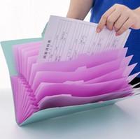 dossiers de portefeuille en plastique achat en gros de-12 couches document classeurs sacs papier papier plastique portable portefeuille en expansion dossier classeur document organisateur papeterie bureau
