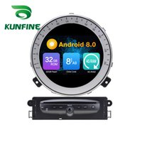 Wholesale Octa Core GB RAM Android Car DVD GPS Navigation Multimedia Player Car Stereo for BMW Mini Cooper After Year Radio Headuint Wif