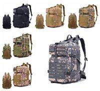 Wholesale tactical molle backpack waterproof - 40L Waterproof Oxford Outdoor Sport Molle Tactical Travel Bag Mochila Camping Hiking Trekking Backpack Rucksack DDA628