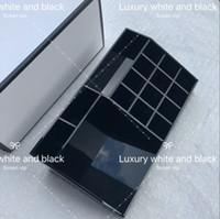 gradas cosméticos al por mayor-CC Classic Acrylic Black Lipstick Multifuncional Display Cosmetic Case Tool Organizador de moda Accesorios Cajas de almacenamiento Cajas de regalo