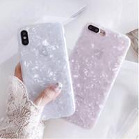 étui drôle pour apple iphone achat en gros de-Cas de téléphone de mode Conch Shell pour Iphone 6S cas pour Apple Iphone X 6 7 8 Plus beaux cas drôle couverture de téléphone