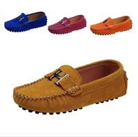 Wholesale baby girls loafers for sale - Cowhide Children Boy s Girl Baby Shoes Slip on Loafers Flats Spring Autumn Fashion Boys Sneakers for Big Kid Size