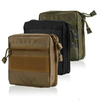 ilk yardım çantası torbaları toptan satış-EDC Kılıfı Bir Dicle Askeri MOLLE EMT Ilk Yardım Kiti Survival Dişli Çanta Taktik Çok Kiti Ücretsiz Kargo