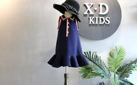 Wholesale Wind Tail - Children's Garment 2018 Spring Clothes New Product Girl Lady Of Quality The Wind Hit Color Crushed Lapel Vest Skirt Fish Tail Skirt Temperam