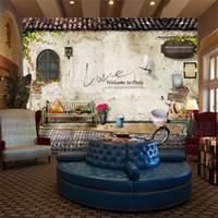 eski duvar kağıdı toptan satış-Özel Fotoğraf Kağıdı Duvar Resimleri Klasik Eski Sokak Duvar Fotoğraf Paris Mutfak Cafe Restaurant Zemin Duvar Kağıdı Papel De Parede 3D