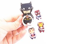 Wholesale batman mobile online - Universal Degree Super Hero Superman Batman Finger Ring Holder Phone Stand For iPhone s Samsung Mobile Phones