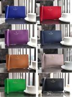 klasik hediye poşetleri toptan satış-Kat Marka Yeni deri cüzdan bileklik kadın cüzdanlar debriyaj çanta ücretsiz hediye ile fermuar Kart çanta kadın bileklik cüzdanlar debriyaj çanta zippe