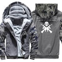 Wholesale iron fleece - Hoodies Men 2018 Winter Fleece Sweatshirt For Male Hoody Iron Maiden A MATTER OF LIFE AND DEATH Print Jackets Punk Jackets Coat