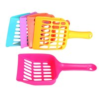 hot-dogs en plastique achat en gros de-Plastic Pet Fecal Cleaning Spade Stool Shovel Multi Color Cat Litter Shovel Dog Cat Supplies Hot Sale T1I588