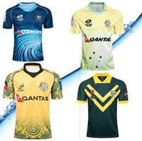 Wholesale hot australian - Hot sales Newest 2017 2018 NRL Jersey Australian Commemorative Edition 17 18 Australia rugby Jerseys t shirt s-3xl free shipping