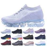 Wholesale Outdoor Floor Lights - Vapormax Running Shoes 2018 Men Air Casual Sneakers Women Sports Shoes Vapor Outdoor Hiking Jogging Walking Athletic Sneakers 36-45