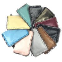 kızlar için telefon tutucuları toptan satış-10 Renkler Moda kadınlar cüzdan yıldız zinciri messenger mini çanta omuz çantası cep telefonu çantası kart sahibinin cüzdan Kız ma ...