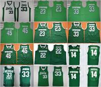 homens corajosos venda por atacado-Mens Michigan estado Spartans 33 Johnson College Jersey 22 milhas pontes 23 Draymond verde 45 Denzel Valentine basquete camisas