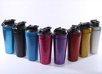 metallschüttlerbecher großhandel-AM BILLIGSTEN!!! Normallack Edelstahl Metall Protein Shaker Cup Blender Mixer Flasche 32oz mit auslaufsicheren Deckel