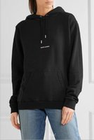 ropa deportiva para hombres al por mayor-2018 Marca de Moda de Lujo Diseñador SLP saint Hoodies Otoño Logo Box Sudaderas mujeres Pullover Fleece Top hombres HipHop Sportswear Hoodie