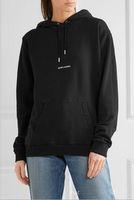 sportbekleidung marken für frauen großhandel-2018 Marken-Art- und Weiseuxuxdesigner SLP-St. Hoodies-Herbst-Logo-Kasten-Sweatshirtfrauen-Pullover-Vlies-Spitzenmänner HipHop-SportkleidungHoodie