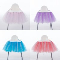 Wholesale birthday plains - Birthday Party Decoration Chairs Cover Multi Color Tutu Chair Skirt Wedding Ornament New Arrive 28mr C R
