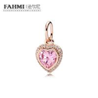 FAHMI 100% 925 Sterling Silver 1:1 Original 380366PCZ Authentic Temperament Fashion Glamour Retro Pendant Wedding Women Jewelry