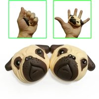 Wholesale Dog Bubbles - Kawaii squishy dog head 10cm simulation of animal bubble bread cake slow rebound Cute squishies decompression toys gift