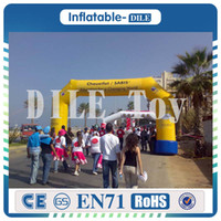 Wholesale inflatable rentals for sale - Group buy inflatable rainbow arch for party wedding events cheap m m commercial inflatable arch rental advertising equipment