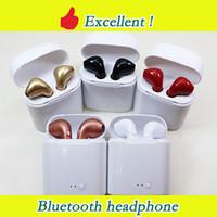 gêmeo usb venda por atacado-Fones de ouvido bluetooth i7s i8s i9x twins gêmeos fones de ouvido sem fio fones de ouvido fone de ouvido com microfone estéreo v5.0 para iphone android pk airpods i10