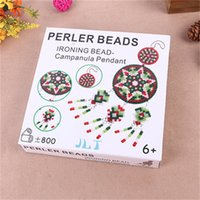 Wholesale plastic pendant beads online - Unique Campanula Design Pendant For Kids Fun Gift Home Living Room Decor DIY Dreamcatcher Puzzle Perler Beads Toys New Arrival yr Z