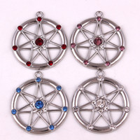 FAERY STAR Elven Wiccan Seven Pointed Star Fairy alloy Pendant 925 Sterling Silver | Fae Elf Magick Amethysts Amulet