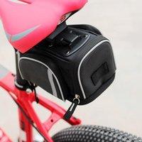 водонепроницаемый держатель телефона для велосипеда оптовых-Водонепроницаемый велосипед седло сумка велосипед сиденья сообщение сумка для MTB дорожный велосипед Велоспорт заднее сиденье хвост сумка Держатель телефона аксессуары
