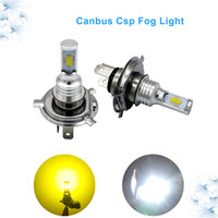 Wholesale H7 Led Canbus - LED Fog Lamp H1 H3 H4 H7 Canbus H11 72W CSP LIGHT SOURCE BRIGHTNESS H8 H9 H10 9005 9006 Auto LED Bulbs