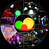 Wholesale pool table light for sale - Group buy 7 Color RGB LED Floating Magic Ball Led illuminated Swimming Pool Ball Light IP68 Outdoor Furniture Bar Table Lamps With Remote
