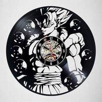 викторианский дракон оптовых-Аниме Dragon Ball Z Black Art виниловые настенные часы Современный Дом Запись старинные украшения виниловые настенные часы (размер: 12 дюймов цвет: черный)